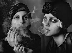 Sabisha Friedberg & Jessica Stam for Vogue Italy, Paris, by PETER LINDBERGH