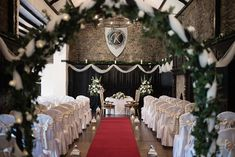 The ceremony room ready and waiting for the guests to arrive at Kinnitty Castle. A real wedding by Couple Photography Wedding Ceremony, Wedding Day, Up For The Challenge, Banquet Tables, Magical Wedding, Sunset Photos, Down Hairstyles, Looking Stunning