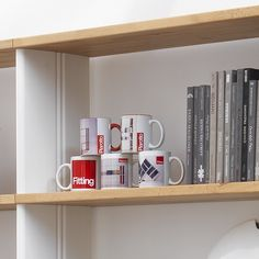 The famous Piarotto Mugs. Every customers that buy a bookcase receive a mug free. Every 6 month there is a new mug. Start the collection !  #mug #mugs #collection #bookcase #shelves #shelving