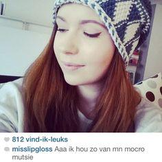 Cynthia (Miss Lipgloss) houd van haar Original Mocros Muts !!  koop nu je eigen Mocros muts via www.originalmocros.com -  https://instagram.com/originalmocros/
