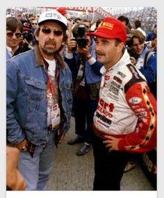 "stillmyguitar: "" April 17, 1994 American Grand Prix in Long Beach. George Harrison and Nigel Mansell """