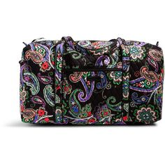Vera Bradley Large Duffel Travel Bag in Kiev Paisley ($85) ❤ liked on Polyvore featuring bags, luggage and kiev paisley