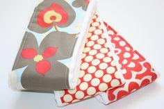 Cloth Diaper Burp Cloths - set of 3