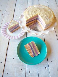 paleo raw vegan rainbow cake