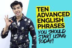 Advanced English Phrases To Speak English Fluently English Grammar Online, English Grammar Rules, Learn English Grammar, English Phrases, English Idioms, English Words, English Vocabulary, English English, Speak English Fluently