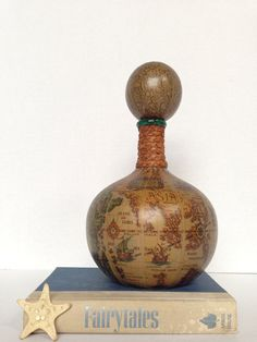 Vintage Decanter  Made in Italy  Glass Covered in by OneDecember, 29.00