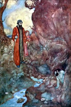Art by Edmund Dulac (1915) from SHAKESPEARE'S COMEDY OF 'THE TEMPEST'.  Source:  http://archive.org/details/shakespearescome00shak