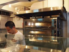 Inside the deck ovens - where the magic happens