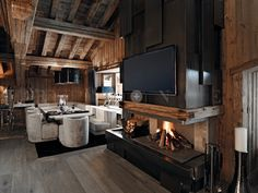 Great modern fireplace with a rustic look and feel Luxury Bedroom Sets, Luxurious Bedrooms, Luxury Bedding, Cheap Bedding Sets, Bedding Sets Online, Modern Loft, Modern Rustic, Bedroom Nook, Bedroom Kids