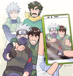 Kakashi and Gai and their dads - Naruto Naruto Kakashi, Anime Naruto, Hinata, Anime Yugioh, Anime K, Anime Body, Anime Pokemon, Anime Plus, Naruto Teams