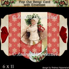 Pop Out Bengi Card Christmas Kid - £1.40 : Instant Card Making Downloads