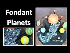 Easy way to make planets for a solar system cake!