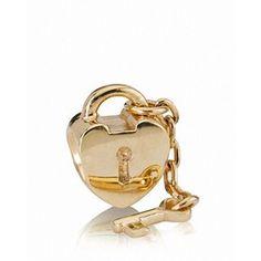 Pandora Charm - 14K Gold Key to My Heart