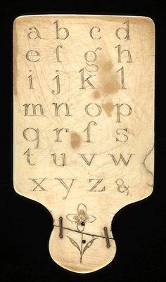 Ivory Hornbook, England 19th century