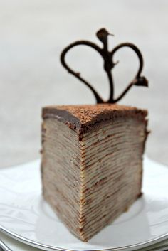 30 Layer Nutella Crepe Cake - Someday I'd like to try this cake, but I don't really want to be the one to make it! :)