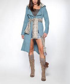 Another great find on #zulily! Blue Agua Wool-Blend Cardigan by Piedra y Agua #zulilyfinds
