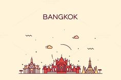 Bangkok skyline (Thailand) by grop on Creative Market
