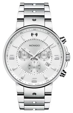 Movado 'S.E. Pilot' Chronograph Bracelet Watch, 42mm available at #Nordstrom