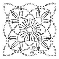 Вязание квадратных мотивов крючком схемы - Вязание крючком для всей семьи