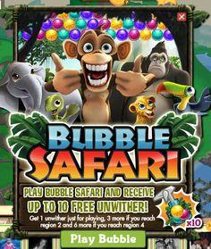 Play Zynga's Bubble Safari and Get Free FarmVille Unwithers!