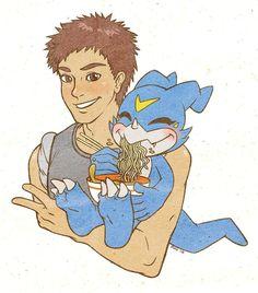 Daisuke and Veemon by on DeviantArt Okinawa, Social Community, Worlds Largest, Princess Zelda, Deviantart, Artist, Fictional Characters, Artists, Fantasy Characters
