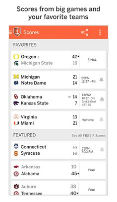 The new ESPN Championship Drive App is the ultimate, year-round companion for every college football fan. Follow your team's journey to the first-ever College Football Playoff. Follow the nation's top stories with unprecedented coverage and watch in-progress video highlights on brand new game pages (coming soon) as big plays happen. Play your favorite college football fantasy games with your friends and win prizes. Get news and in-game alerts for your favorite teams and the biggest games of…