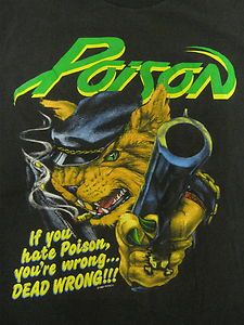 Vintage Tshirt - Poison - 1989 Open Up and Say Ahhh Tour Security ~ Large ~ RARE #vintage #tshirts #poison | $79