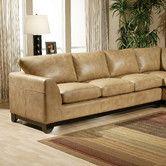Found it at Wayfair - Omnia Furniture City Sleek Leather Sofa