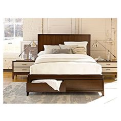 Amherst Storage Bed - I would love a solid wooden bed frame.  Bonus on the drawers!