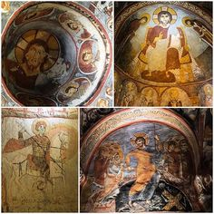 Some pictures of churches in Goreme Open Air Museum. Turkey History, Hagia Sophia, Ancient Civilizations, Byzantine, Some Pictures, Archaeology, Rome, Cathedral, Vintage World Maps