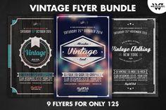 9 VINTAGE Flyer Bundle Vol.2 by WG-VISUALARTS on Creative Market