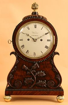Unusual Mahogany Bracket/Table Clock by Webster (c. 1830 England)