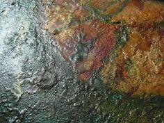"""""""Begin"""" textural detail. Encaustic oil. Julie Sumerta"""