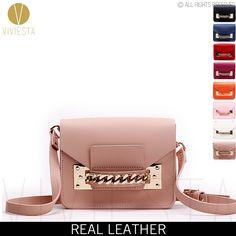 GENUINE LEATHER CHAIN MINI ENVELOPE CROSSBODY BAG - Women's 2015 New Brand Fashion Cute Small Shoulder Clutch Bag Purse Handbag -  http://ht.ly/YLVBp