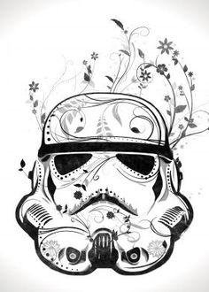 Flower Troopers #starwars #stormtrooper #artprint