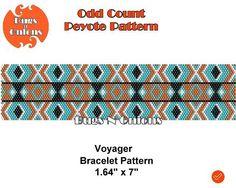 Peyote Stitch Voyager Odd Count Peyote Stitch Bracelet