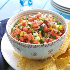 Spicy Watermelon Salsa: VERDICT:Served this at a dinner party, it was really good! Will make again!