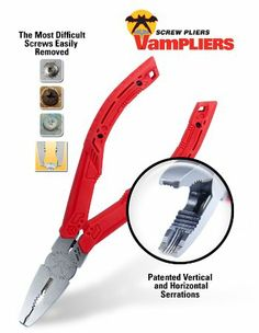 VamPLIERS for Extraction of Stripped Rusted Corroded Torx Security Screws and Round Nuts and Bolts - Amazon.com