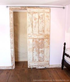 Sliding Barn Door Track And Rollers Double Barn Doors, Sliding Door Hardware, Diy Barn Door, Sliding Barn Door Hardware, Sliding Doors, Front Doors, Barn Door In House, Barn Door Track, Farm Door