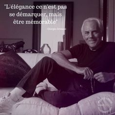 Citation de Giorgio Armani - Article citation de mode partie 1