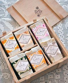 Los Jabones de mi mujer - wooden box of soap, soap packaging, gift box