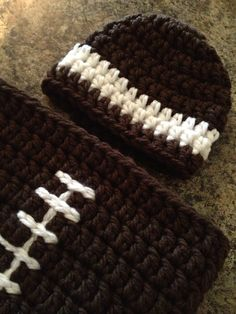 Football Cocoon photo prop. I made up my own pattern after seeing this on  Pinterest fb68e3dc6c4