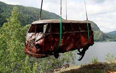 Rare VW Camper rescued from watery grave  A Norwegian Volkswagen fanatic is undertaking a mammoth restoration after recovering a rust-riddled VW Microbus from the bottom of a fjord.