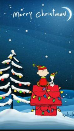 Merry Christmas From Charlie Brown Snoopy