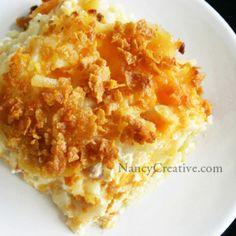 Cheesy Hash Brown Potatoes | NancyCreative