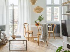 wohnung edler Wishbone Chair, Wedding Styles, Modern, Dining Chairs, Curtains, Furniture, Tricks, Home Decor, Danzig