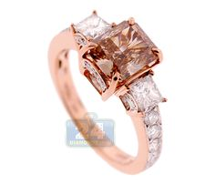 Show your lasting love with this beautiful 18k rose gold engagement ring with natural Fancy Orange Brown diamond! http://www.24diamonds.com/gia-18k-rose-gold-300-ct-fancy-orange-brown-diamond-womens-ring_21557.html