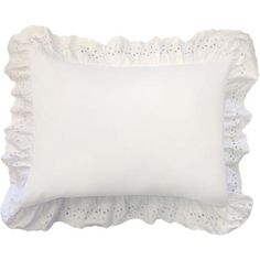 Add the perfect finishing touch to your bed with the delicate and delightful Smoothweave Ruffled Eyelet Pillow Sham. Made from a spectacular cotton/polyester blend, this boastful pillow sham features an arresting trim and sensational color. Ruffle Pillow, Pillow Shams, Pillow Covers, Shabby Chic Furniture, Shabby Chic Decor, Country Chic Cottage, Ruffle Bed Skirts, King Pillows, Beds For Sale