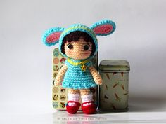 "Cynthia, the Little Bunny Girl Doll - Free Amigurumi Pattern - PDF File - Click to ""Cynthia, the Little Bunny Girl - a free amigurumi pattern by Tales of Twisted Fibers"" in red letters here:   https://talesoftwistedfibers.wordpress.com/?attachment_id=1658"