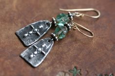 Rustic Bohemian Cross earrings n227 cross earrings by Tribalis